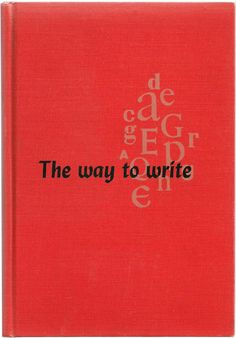 The Way to Write - Flesch and Lass - Vintage Red Tan Black Writing Book 1950's $9.00