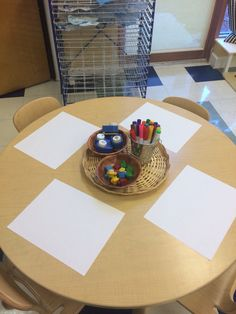 Chanukah! Open art table with Chanukah stamps and dreidel crayons!