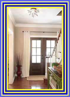 Home Design Ideas French Door Decor, French Doors Bedroom, French Door Curtains, Door Window Covering, Barn Door Window, Window Coverings, Arched Window Treatments, Arched Windows, Fire Rated Doors
