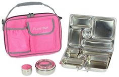 """Rover System by PlanetBox. Awesome lunchboxes for kids school lunches! Lots of color choices -- and you can even get magnets to """"decorate"""" the stainless steel."""