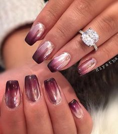 Most Lovely Chrome Nails Inspirational Ideas For Prom And Wedding - Page 63 . - Most Lovely Chrome Nails Inspirational Ideas For Prom And Wedding – Page 63 of 74 – Marble - Chrome Nails Designs, Chrome Nail Art, Nail Art Designs, Newest Nail Designs, Fabulous Nails, Gorgeous Nails, Pretty Nails, Nails 2017 Trends, Nails 2016