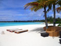 Private beach @ the St Regis in Bora Bora Society Islands, Microsoft Surface, Bora Bora, Paradise, Around The Worlds, Tropical, Explore, Awesome, Outdoor Decor