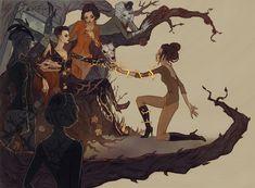 Lenka Simeckova Illustration https://beautifulbizarre.net/2015/02/24/lenka-simeckova-witchcraft-and-gothic-art/