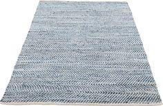 Gerecycled spijkerstof en leder bundelen hun kracht, het pracht resultaat daarvan is karpet Jeans. De blauwe en witte kleuren worden in evenwicht gebracht door het unieke zigzag patroon. Een buitengewoon mooi karpet voor uw interieur met een afmeting van 140 x 200 cm.