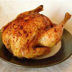 Foto de la receta: Pollo entero al horno jugoso y fácil
