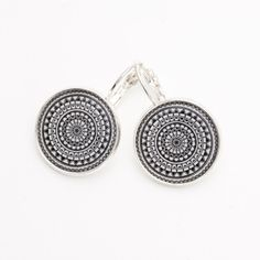Black and White Earrings - Mandala Earrings - Yoga Earrings - Spiritual Gift - Sister Gift - Spritual Art - Best Friend Gift - Spiritual