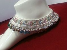 Find out our Anklets - Females made from a remarkable range at Jewelry. Payal Designs Silver, Silver Anklets Designs, Silver Payal, Anklet Designs, Indian Wedding Jewelry, Indian Jewelry, Bridal Jewelry, Gold Jewellery, Anklet Jewelry