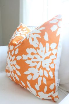 Valencia Orange Pillow Cover by WhiteHavenDesigns on Etsy