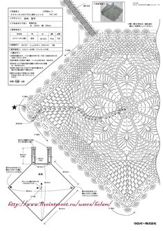 Click image to close this window Crochet Diagram, Crochet Chart, Thread Crochet, Filet Crochet, Crochet Stitches, Crochet Tank Tops, Crochet Blouse, Crochet Lace, Knitting Patterns