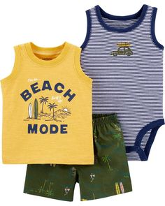 Carter's : Carter's Beach Mode Little Short Set Teen Fashion Outfits, Baby Girl Fashion, Baby Boy Outfits, Trendy Outfits, Cute Outfits, Kids Fashion, Boys Winter Clothes, Boho Baby Clothes, Cute Spring Outfits