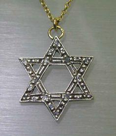 Art Deco Era Diamond Studded Star of David Pendant, 1930s or earlier