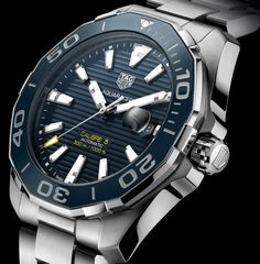 The new TAG Heuer Aquaracer & ceramic TAG Heuer Aquaracer Lady watches for Baselworld 2016 with images, price, specs, & analysis. Tag Heuer Aquaracer Ladies, Tag Heuer Aquaracer Automatic, Tag Heuer Automatic, Automatic Watches For Men, Big Watches, Cool Watches, Rolex, Tag Heuer Monaco, Expensive Watches