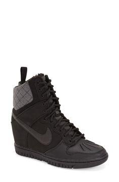 adidas clover sky hi wedge sneakers black white g95649