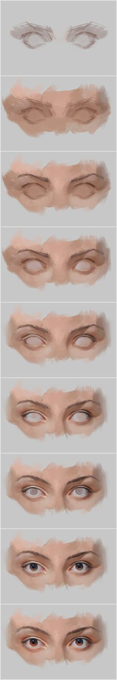 Eyes Digital Art Tutorial Step by Step
