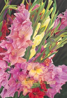 Summer Gathering Gladiolus Fine Art Print by ArtByJulene on Etsy, $15.00
