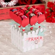 could be red and buff roses? My Funny Valentine, Love Valentines, Valentine Gifts, Valentine Roses, Chocolate San Valentin, Heart Shaped Candy, Candy Crafts, Chocolate Bouquet, Teacher Christmas Gifts
