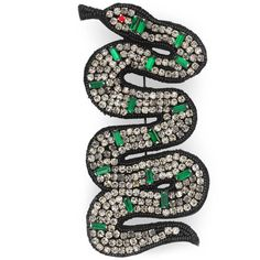 Gucci Embroidered Snake Brooch ($580) ❤ liked on Polyvore featuring jewelry, brooches, bead embroidery jewelry, multicolor jewelry, bead jewellery, gucci jewellery and snake jewelry