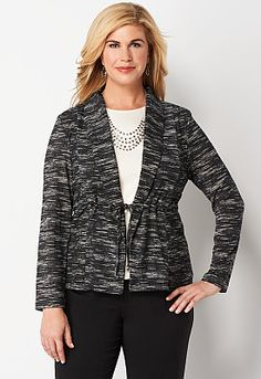 Tonal Stripe Knit Jacket