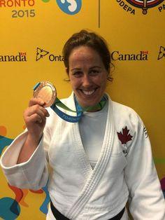 July 14 - Judo - Women's - -78 kg. Bronze medalist Catherine Roberge of Canada.