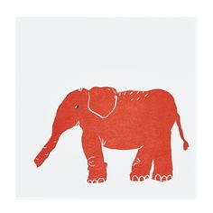 Prints of the Jungle Wall Art (Elephant) in Animal Wall Art | The Land of Nod