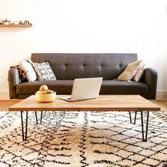 Inspirez vous des tables basses crées par nos clients avec nos pieds en épingle Ripaton.