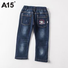 Children Jeans Kids Pants Boy Jeans Pants Kids Trousers Navy Blue Spring Autumn 2017 New Baby Girl Jeans Trousers 3 4 5 6 Boys White Jeans, Girls Jeans, Jeans Dress, Jeans Pants, Best Mom Jeans, Baby Girl Jeans, Autumn 2017, Kids Pants, Skinny Girls