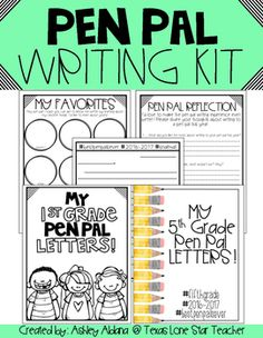 Free Pen Pal Printables for Kids | pen pal ideas | Pinterest | Pen ...