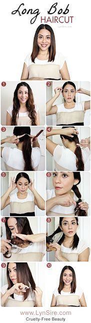 Long Bob Haircut Tutorial! How to Cut Your Own Hair