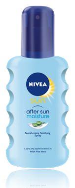 Provitamin B5, Vitamin E, dan Aloe Vera yang berfungsi mengembalikan kelembaban kulit. Moisturising After Sun Spray