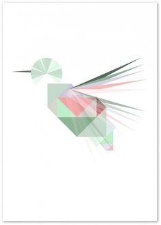 Silke Bonde kolibri plakat hummingbird ;O~
