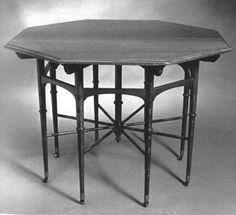 Octogonal Table by Edward William Godwin, 1833-1886