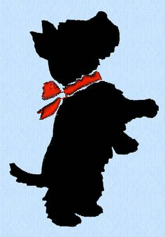 Scottish Terrier dog standing or begging, with neck bow - 2 sizes - machine embroidery design file