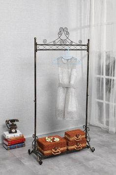 Amazon.com: Chic and Sturdy Garment Rack - Clothing Racks with Bottom Shelf for Shoes - Metal Hanging Clothes Stand (Black): Storage & Organization