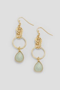 Arie Earrings in Mint Agate on Emma Stine Limited