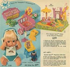Sweet April doll & playset -I remember I got this for Christmas :) One of my favorite childhood toys