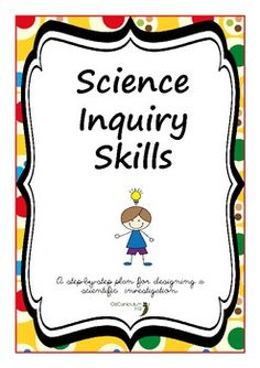 Science Inquiry Process Skills Posters   Science, Posters and ...