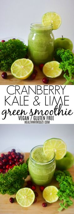 Who loves cranberries? They can be a bit tangy in taste, but they taste great in green smoothies! Cranberries boost the immune system, are a good source of vitamin C making them excellent for your overall health and beauty! Check out the recipe!