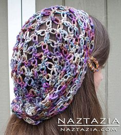 Crochet Solomon's Knot Hair Scarf