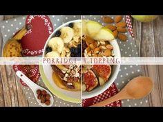 Ciao a tutti! In questo video vi mostro i miei 4 topping preferiti, realizzati con gli ingredienti che utilizzo spesso per completare i miei porridge d'avena...