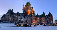 Fairmont Le Château Frontenac em Quebec #viagem #canada #viajar