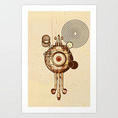 hypnotism Art Print by Diego Verhagen - $17.00