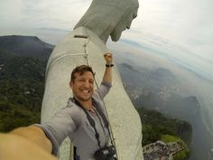 Man Takes Epic Selfie On Top Of Giant 'Christ The Redeemer' Statue In Brazil (Photos) RA