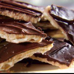 Trisha Yearwood-Brooks' Sweetened Saltines  http://www.foodnetwork.com/recipes/sweet-and-saltines-recipe/index.html