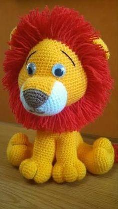 Risultati immagini per bichinhos de croche amigurumi lion, Crochet Lion, Crochet Amigurumi, Crochet Teddy, Amigurumi Doll, Amigurumi Patterns, Crochet Dolls, Free Crochet, Crochet Animal Patterns, Stuffed Animal Patterns