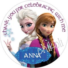 Disney Frozen Favor tags cupcake toppers