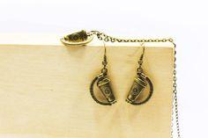 Coffee Dangling Earrings Coffee Cup by boysenberryaccessory