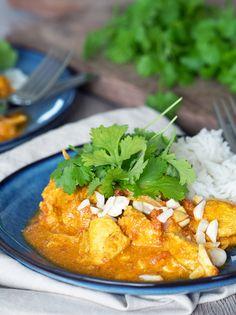 Skøn opskrift på den nemme indiske ret kylling korma - mild og fyldt med god smag som hele familien kan lide - få opskrift her
