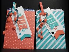 Stampin' Up! Mini Treat Bags Thinlits and Balloon Bash Stamp set - DDStamps with Diane Dimich, Stampin' Up! Demonstrator