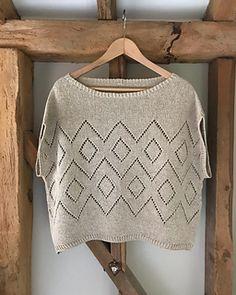 Lace Knitting Stitches, Knitting Patterns Free, Knit Vest Pattern, Knitting Magazine, Summer Knitting, Knitted Poncho, Knitwear, Knit Crochet, Knits