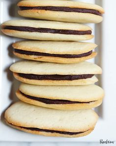 whenever I see these cookies I think of tea on the dining room table at Railroad Ave. Homemade Milano Cookies via Mini Desserts, Cookie Desserts, Just Desserts, Delicious Desserts, Dessert Recipes, Yummy Food, Cookie Favors, Crinkle Cookies, No Bake Cookies